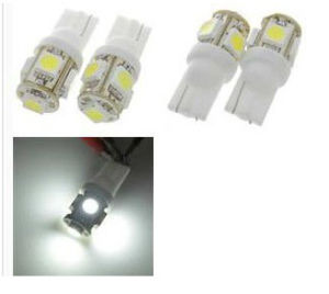 Car LED Side Bulb Lamp T10 W5w 194 White 5 SMD 5050