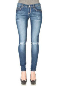 Ladies Skinny Jeans (1744) pictures & photos