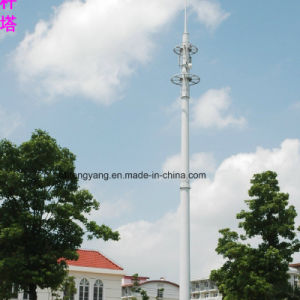 High Quality Single Tube Antenna Communication Tower pictures & photos