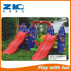 Children Toy Double Slide and Sigle Swing Set pictures & photos