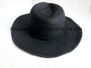 90%Paper 10%Polyester with Dark Black Leisure Style Safari Hats pictures & photos