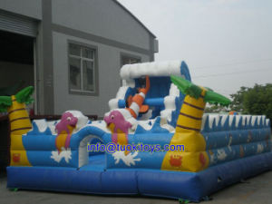 Functional Toy Inflatable Bouncer with Slide (B017) pictures & photos