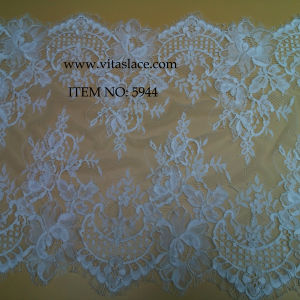 Ivory Polyester French Lace Trim for Wedding Border No. 5944