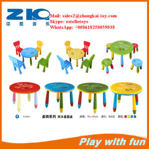 Colorful Plastic Round Table for Kids on Sell pictures & photos