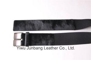 Leopard Fur Leather Belt Horse Hair Belt for Women Jbe1637 pictures & photos