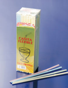 2017 High Quality PVC Box Packed 100PCS Flexible Drinking Straws pictures & photos