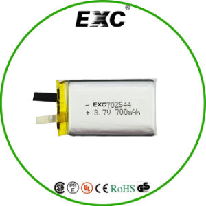 Ce, UL 3.7V 700mAh Rechargeable Lithium Polymer Battery 702544 pictures & photos