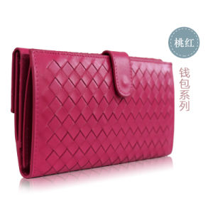 Best Selling Elegant Woven Design Leather for Women Wallet pictures & photos