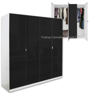 Wholesale Modern MDF Bedroom Wardrobe Closet Furniture (HF-WC031) pictures & photos