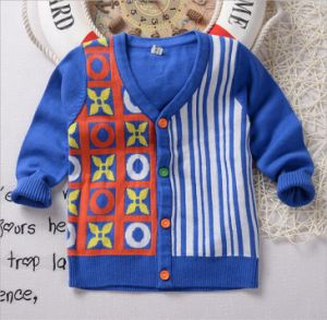 T1198 2015 Kids Cardigan Baby Boys Clothes Knitting Sweater Children Toddler Cardigan Child Clothing for Wholesale pictures & photos