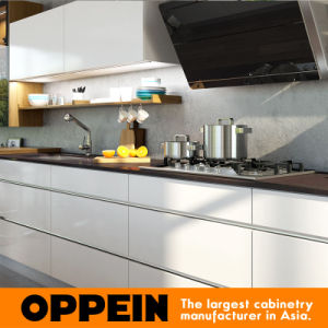 New Design Modern High Gloss Lacquer Wooden Wholesale Kitchen Cabinets (OP16-L19) pictures & photos