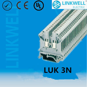 China DIN Rail Terminal Block Factory (LUK3N) pictures & photos