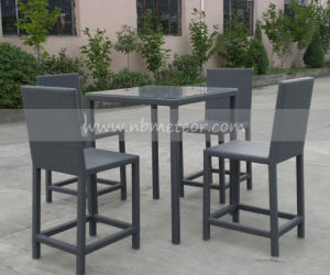 Outdoor Rattan Bar Kd Table Wicker Set (MTC-019) pictures & photos
