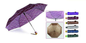 Inscriptions Print Quality Windproof 3 Fold Umbrellas (YS-3FA22083965R) pictures & photos