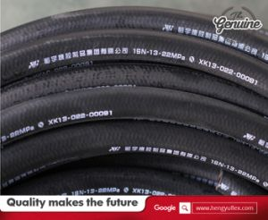 Oil Resistant Hydraulic Rubber Hose Flexible High Pressure Rubber Hose SAE100r1at 1sn pictures & photos
