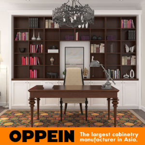 Traditional Wood Grain PVC Home Furniture Study Room Book Shelf pictures & photos