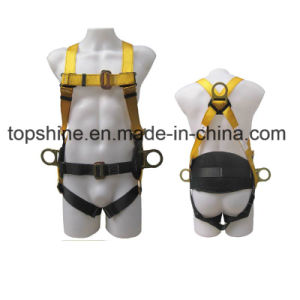Adjustable Industrial Working Polyester Professional Full-Body Safety Harness Belt pictures & photos