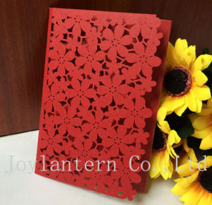 Creative Design Red Flower Lace Invitations, Europe Wedding Invitation Card