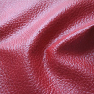 High Quality Thick Semi PU Synthetic Furniture Leather (778#) pictures & photos