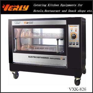 Stainless Steel Electric Rotary Chicken Rotisserie Oven for Sale (VXK-826)