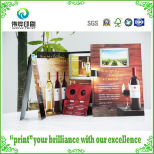 2017 Latest Customized Designed Wine Printing Folded Catalogue / Booklet pictures & photos