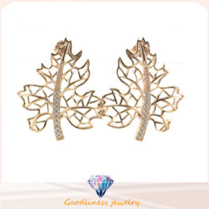 2015 Good Quality New Leaf Shape 925 Sterling Silver Jewelry CZ Earring (IT1SE021) pictures & photos