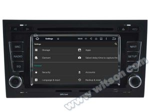 Witson Android 5.1 Car DVD GPS for Audi A4/S4/RS4 (2002-2008) with Chipset 1080P 16g ROM WiFi 3G Internet DVR Support (A5764) pictures & photos