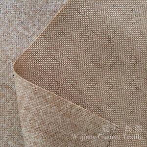 Linen Looks Polyester Linenette Fabric with Knittted Backing for Chairs pictures & photos