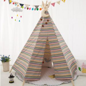 Hexagon Strap Fabric Teepee Kids Playing Tent (MW6023) pictures & photos