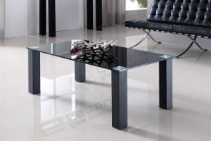 Black Paint Tempered Glass Center Table of Factory Price pictures & photos