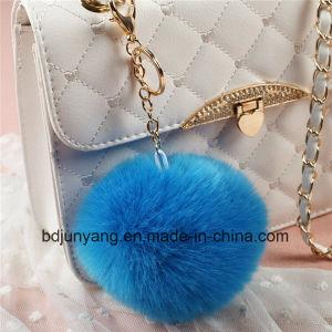 Factory Price Faux Rabbit Fur Pompom Keychain pictures & photos