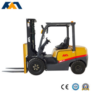 4ton Diesel Manual Hydraulic Telescopic Forklift with Solid Forklift Tire pictures & photos