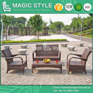 Simple Rattan Sofa Set Outdoor Wicker Sofa Set Patio Sofa Set (Magic Style) pictures & photos