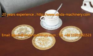 PVC Lace Gilding Cup Mat Production Line Machine pictures & photos