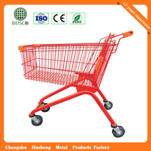 High Quality Hand Metal Supermarket Trolley pictures & photos