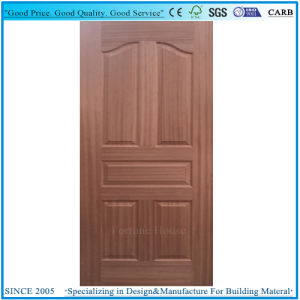 Natural Real Sapelli Wood Veneer Molded Panel Door Skin Plywood pictures & photos