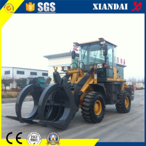 Construction Tools 1.8t Wheel Loader with Wood Grabber pictures & photos