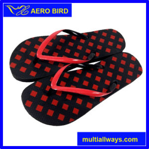 Colorful Summer Beach Slipper with Printed Footbed for Men pictures & photos
