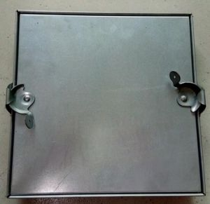 Square Aluminum Indoor Security Doors pictures & photos