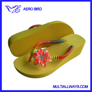 Hot Sale Women Wedge EVA Slippers Fashion Flip Flop pictures & photos
