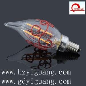 Flame Bent Tip Shape C32 Filament LED Light