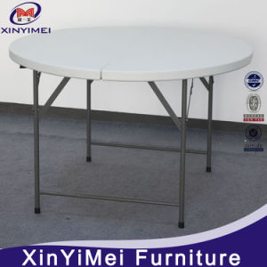 2016 White Cheap Portable Round Plastic Table pictures & photos