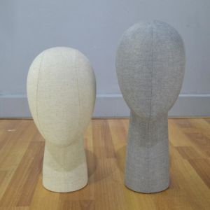 Female Head Mannequin with Linen Wrapped pictures & photos