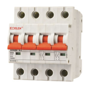 High Breaking Miniature Circuit Breakers (MCB) Knb6-63 pictures & photos