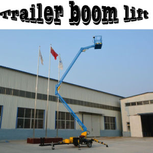Mobile Aerial Work Trailer Folding Boom Lifter for Aerial Repair pictures & photos