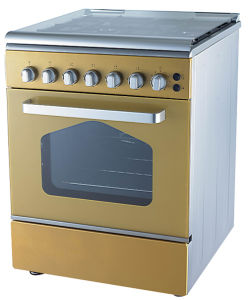 New Design 4 Burner Free Standing Gas Cooker Oven pictures & photos