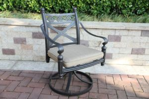 Comfortable Garden Cast Aluminum Swivel Chair Furniture pictures & photos