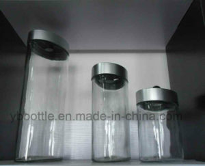 Tall Transparent Glass Jars for Noodles, Food Storage