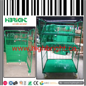 Folding Wire Grid Mesh Wheeled Cage pictures & photos