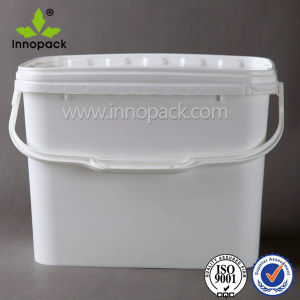 1 Gallon 3gallon 9L Square Rectangle Food Grade Icecream Plastic Container for Food pictures & photos